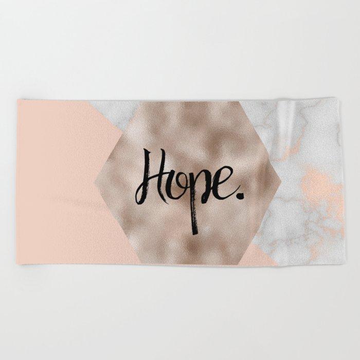 Rose gold layers - hope Beach Towel