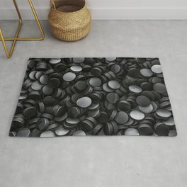 Hockey pucks Rug