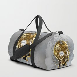 Steampunk Head with Manometer Duffle Bag