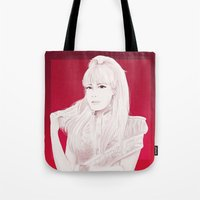 2ne1 Tote Bags featuring BOM by Das The Creator