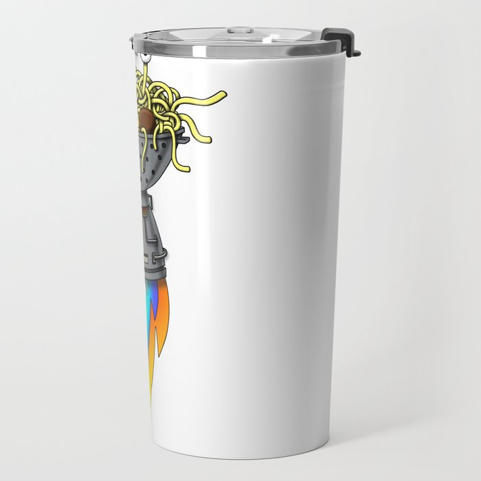 Pastafarian Flying Spaghetti Monster Rastafarian FSM Travel Mug
