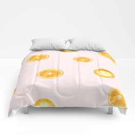 Orange watercolor Comforters