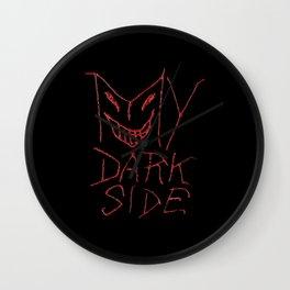 My Dark Side Typographic Design Wall Clock