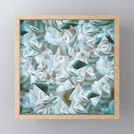 Abstract roses Framed Mini Art Print