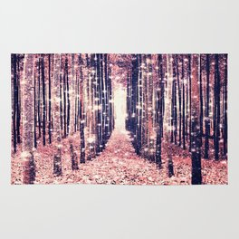 Millennial Pink Magical Forest Rug