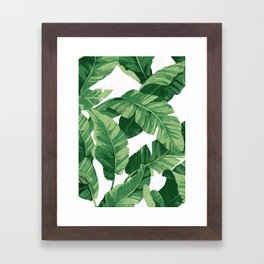 Tropical banana leaves IV Framed Art Print
