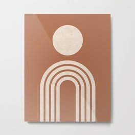 Mid century modern terracotta Metal Print