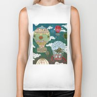 hot air balloons Biker Tanks featuring Hot Air Balloons I by minouette
