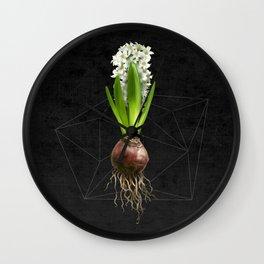 White Hyacinth Hydroponics (tryptic 2/3) Wall Clock