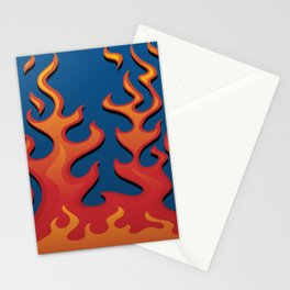 Classic Hot Rod Fire Flames Stationery Cards