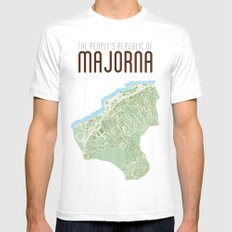 Map of the people's republic of Majorna MEDIUM Mens Fitted Tee White
