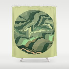TOPOGRAPHY 005 Shower Curtain