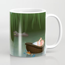 Baby Moses on the River Nile Coffee Mug