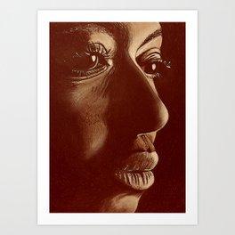 mama africa- brown Art Print