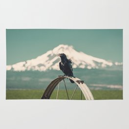 Mt. Jefferson Raven Rug