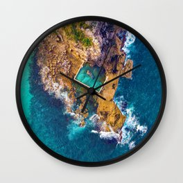 Global Peninsula View (Color) Wall Clock