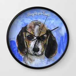 Beagles For Ever Wall Clock