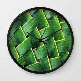 COCONUT LEAF Wall Clock
