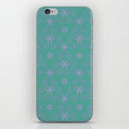 Green garden Swirl Repeating Pattern iPhone Skin
