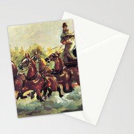 Henri de Toulouse-Lautrec - Alphonse de Toulouse-Lautrec-Monfa Driving his Mail-Coach in Nice Stationery Cards