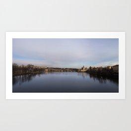 Prague: Vltava River Art Print