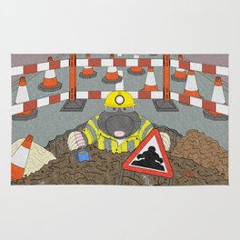 Roadwork Mole Rug