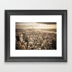 New York from above Framed Art Print
