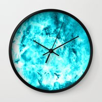 turquoise Wall Clocks featuring Turquoise by 2sweet4words Designs
