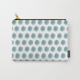 happy blue watercolor flowers Carry-All Pouch