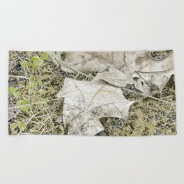 The Fall Frost Beach Towel