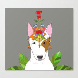 Bul Terier in jungle Canvas Print