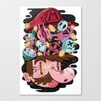 super mario Canvas Prints featuring Super Mario by James Burlinson