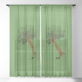 Big Appetite Sheer Curtain