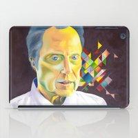 christopher walken iPad Cases featuring Technicolor Walken by Jolene Rose Russell