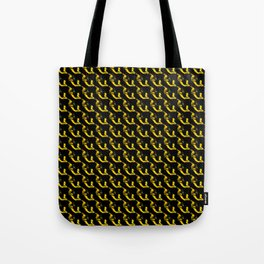 YELLOW AND BLACK CHAINLINK PATTERN FOR GROOVY PEEPS Tote Bag