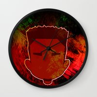 kendrick lamar Wall Clocks featuring Kendrick Chibi by UnifiedGlory