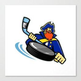 Swashbuckler Ice Hockey Sports Mascot Canvas Print