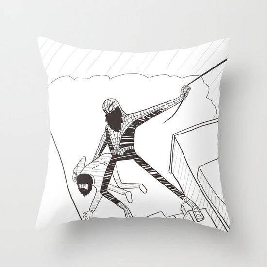 Spider-Beard Throw Pillow