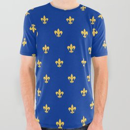 Royal Blue All Over Graphic Tee