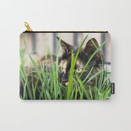 Cat in grass Carry-All Pouch