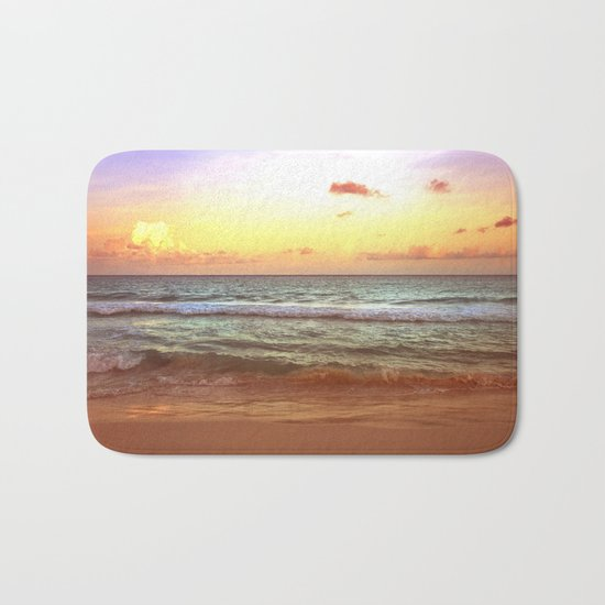 beacH Sunrise Sunset Bath Mat