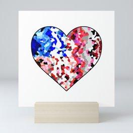 American Heart - Geometric Abstract Mini Art Print