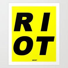 RIOT (BLACK AND YELLOW) Art Print
