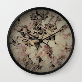 Soft Phlox Wall Clock