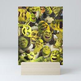 Shrek Collage Mini Art Print