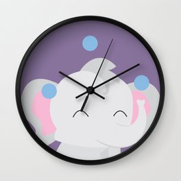 Juggling - Elephant Wall Clock