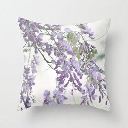 Wisteria Lavender Throw Pillow