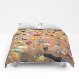 Wooden boulders climbing gym bouldering photography Comforters
