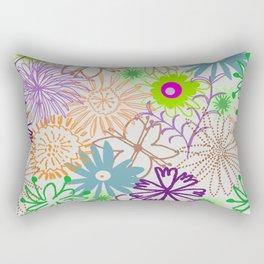 Drawn Flowers Rectangular Pillow