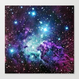 Fox Fur Nebula : Purple Teal Galaxy Canvas Print